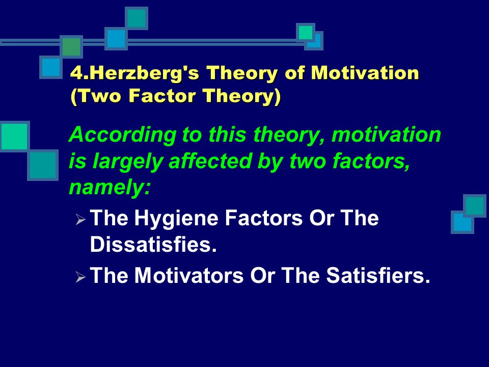 4.Herzberg s Theory of Motivation (Two Factor Theory)