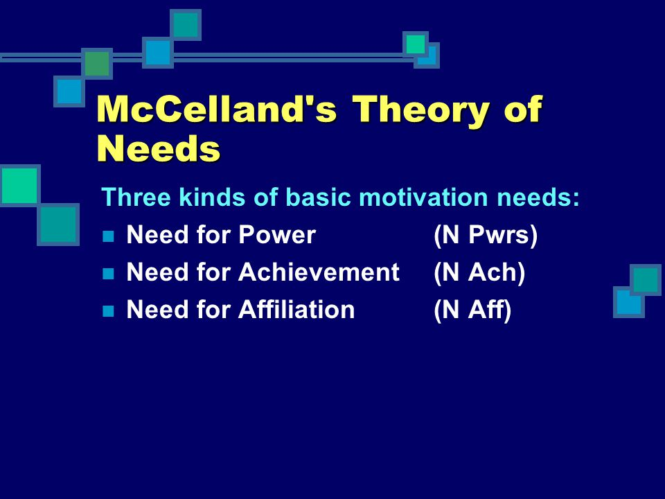 McCelland s Theory of Needs