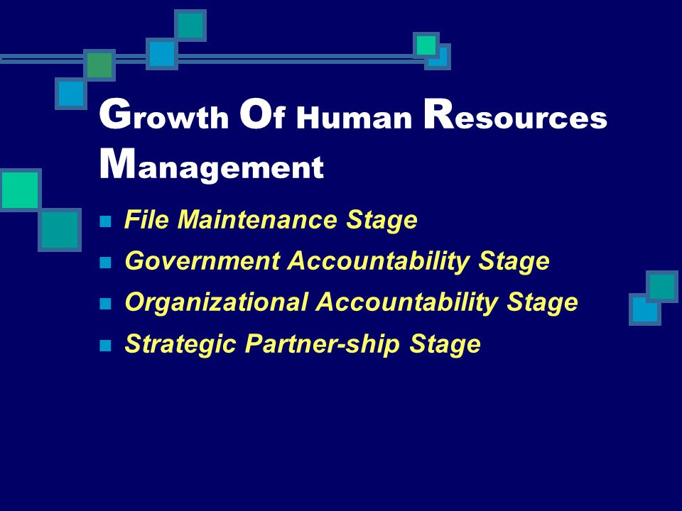Growth Of Human Resources Management