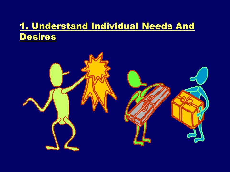 1. Understand Individual Needs And Desires