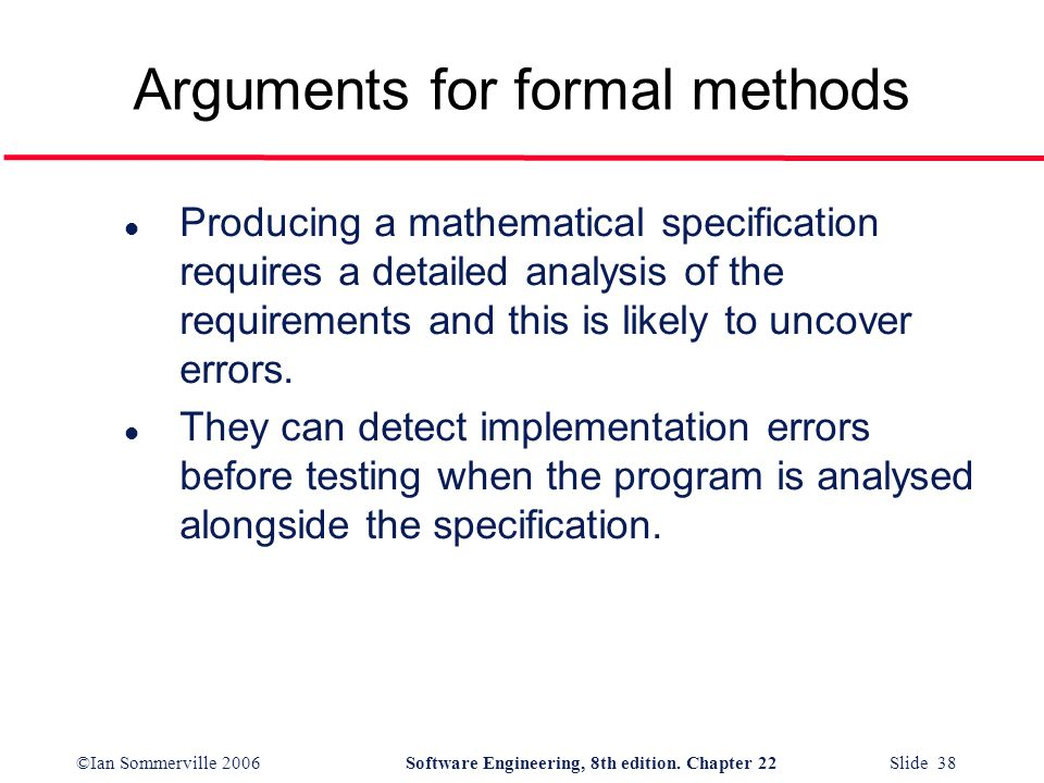 Arguments for formal methods