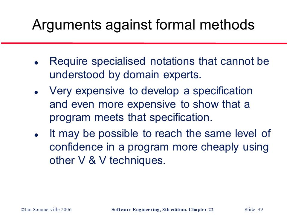 Arguments against formal methods