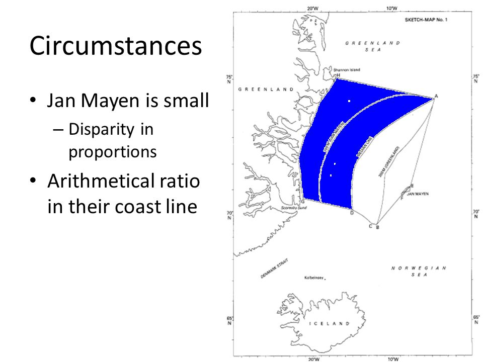 Circumstances Jan Mayen is small