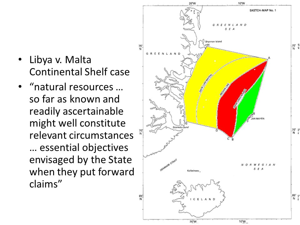 Libya v. Malta Continental Shelf case