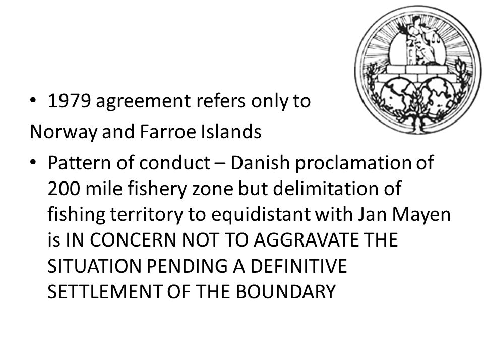 1979 agreement refers only to