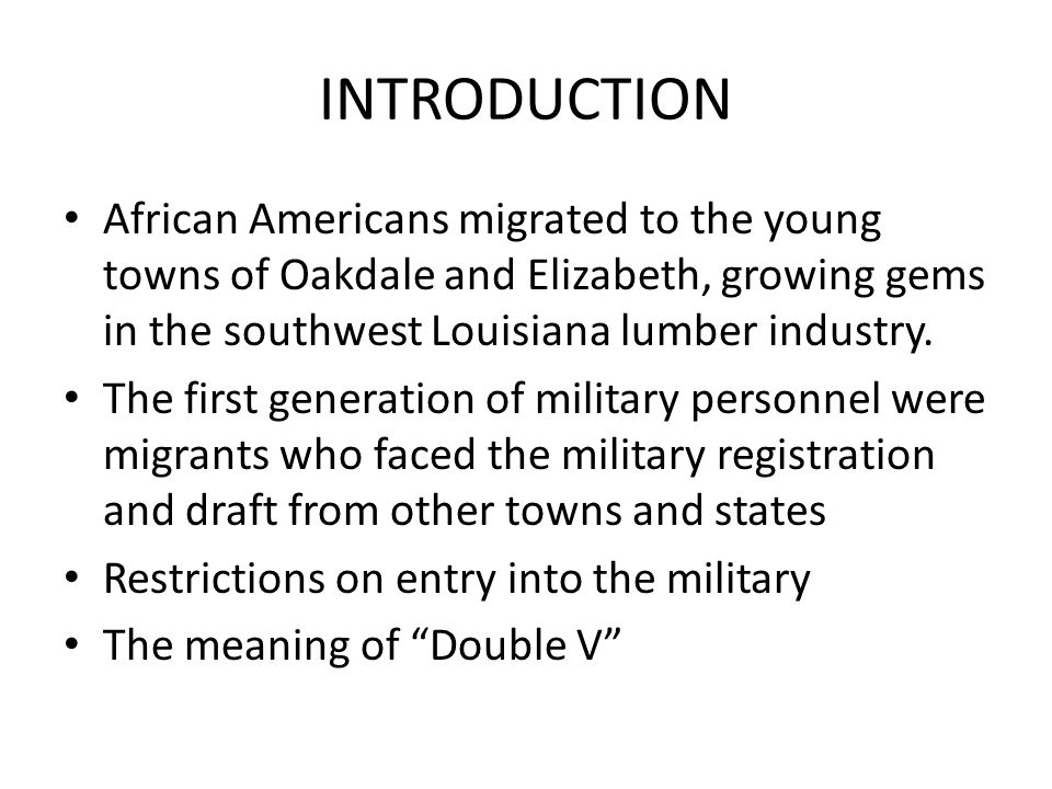 INTRODUCTION African Americans migrated to the young towns of Oakdale and Elizabeth, growing gems in the southwest Louisiana lumber industry.
