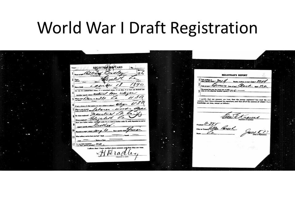 World War I Draft Registration