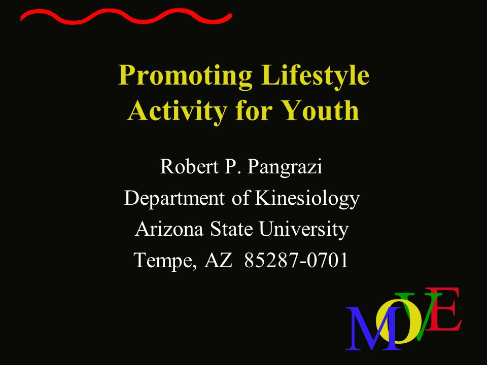 Promoting Lifestyle Activity for Youth