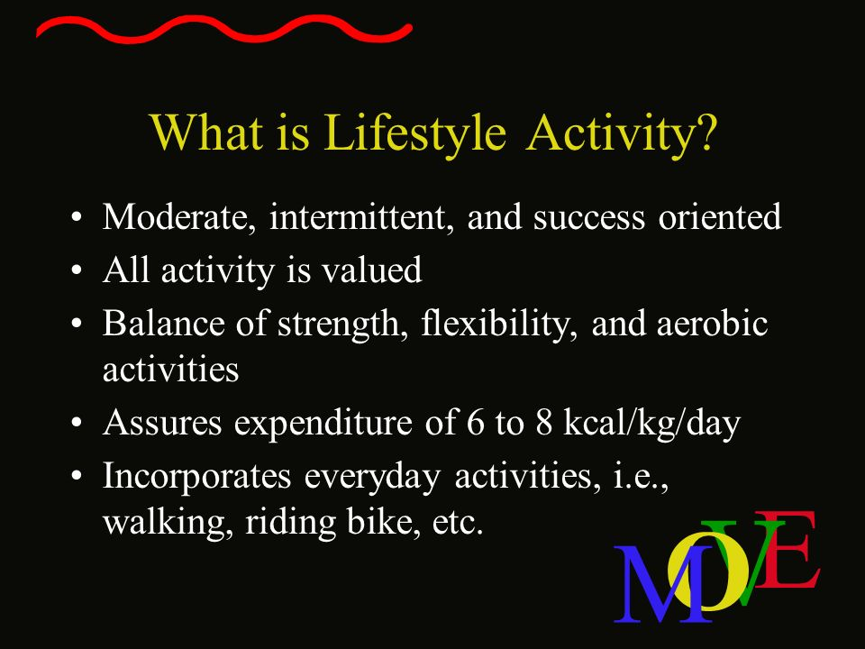 What is Lifestyle Activity