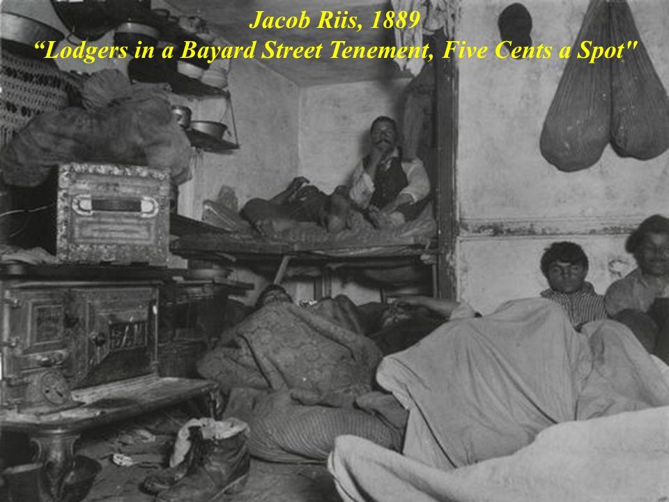 Jacob Riis, 1889 Lodgers in a Bayard Street Tenement, Five Cents a Spot