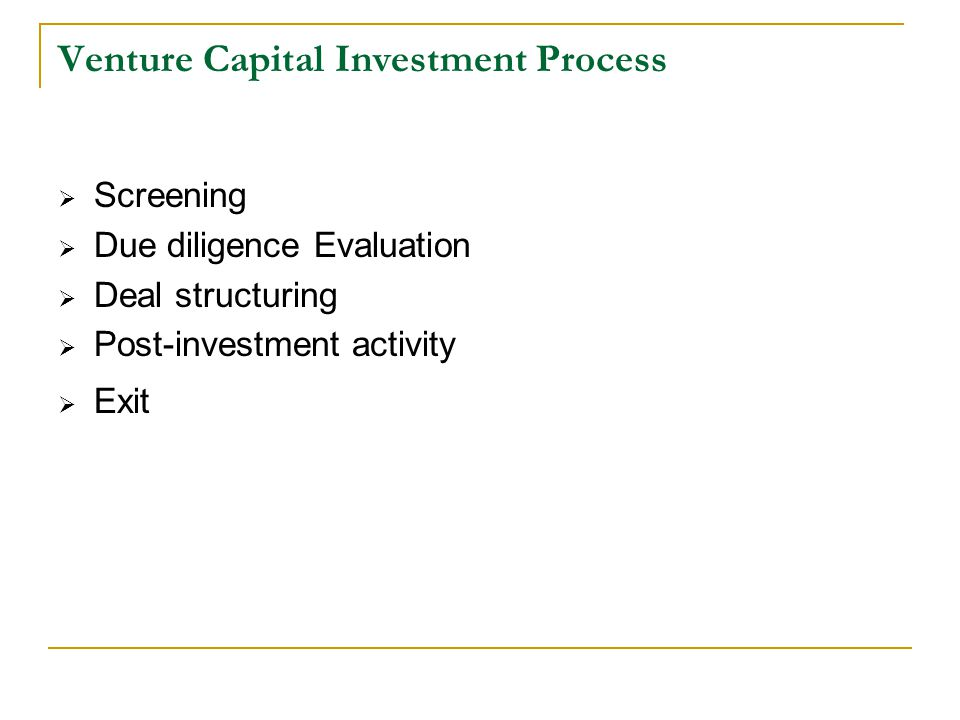 Venture Capital Investment Process