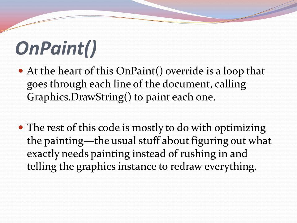 OnPaint()