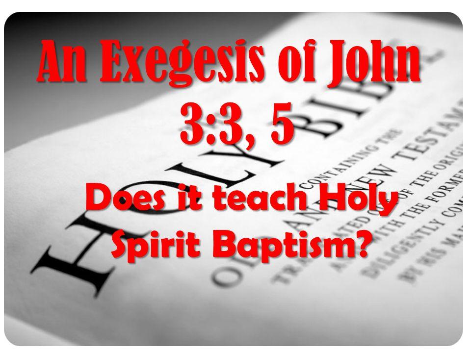 Does it teach Holy Spirit Baptism