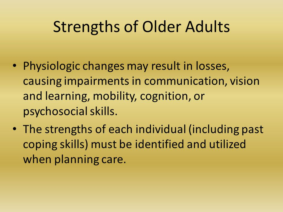 Strengths of Older Adults