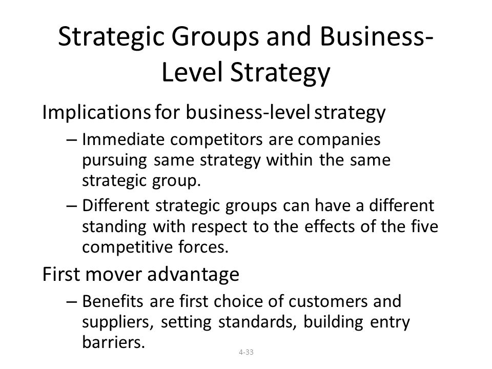 Strategic Groups and Business-Level Strategy
