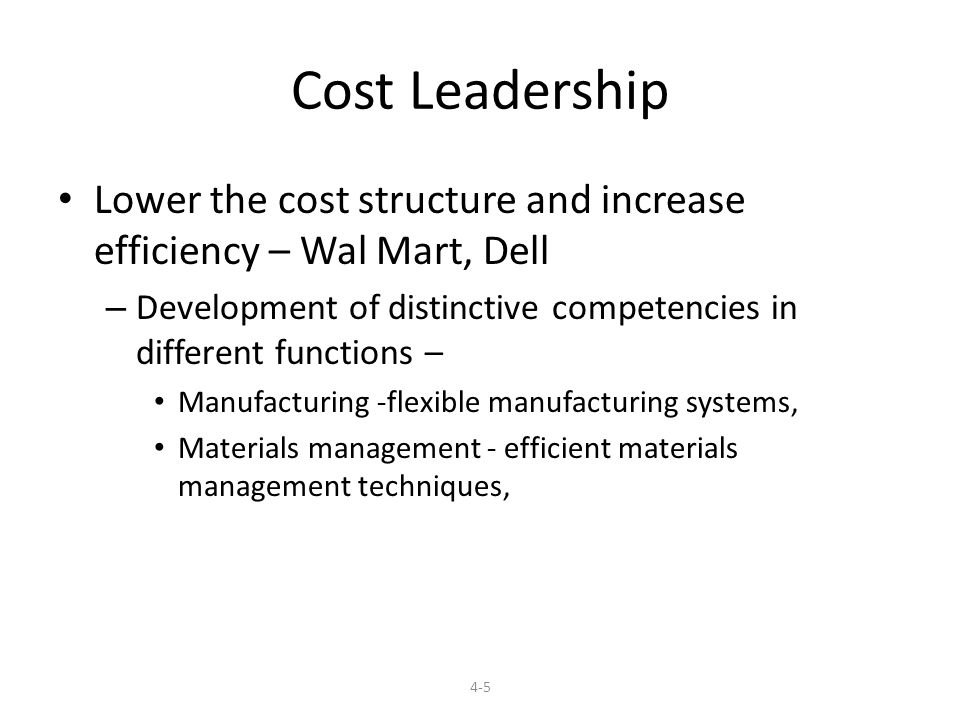 cost leadership dell Strategic management, case analysis dell along with that we find that dell is using cost leadership/differentiation strategy as its business level strategy.