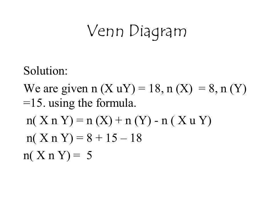 Venn Diagram Solution: