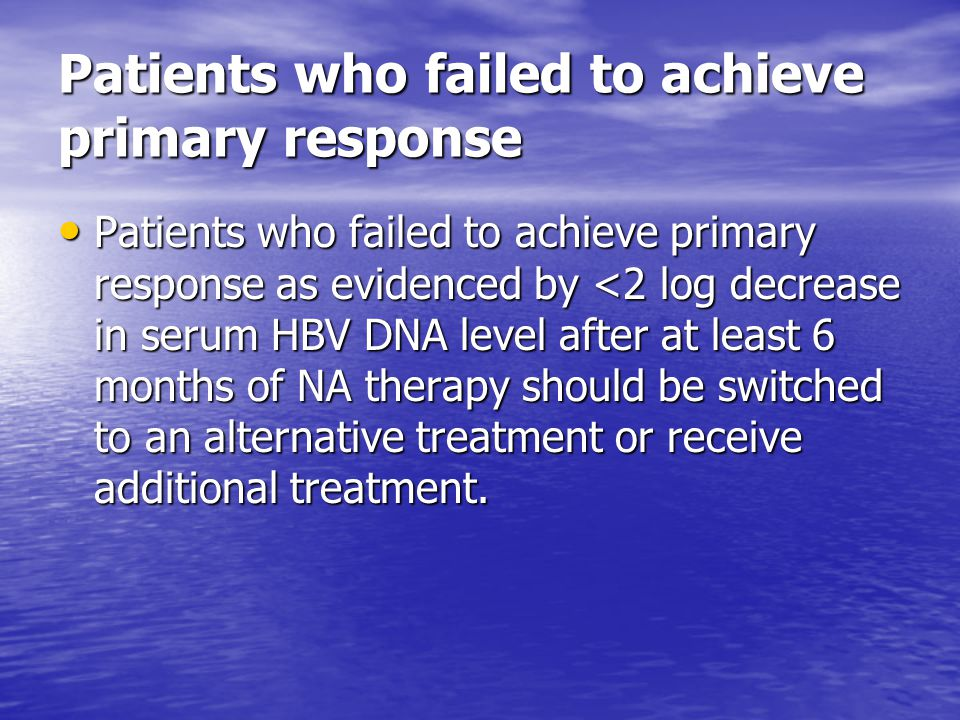 Patients who failed to achieve primary response