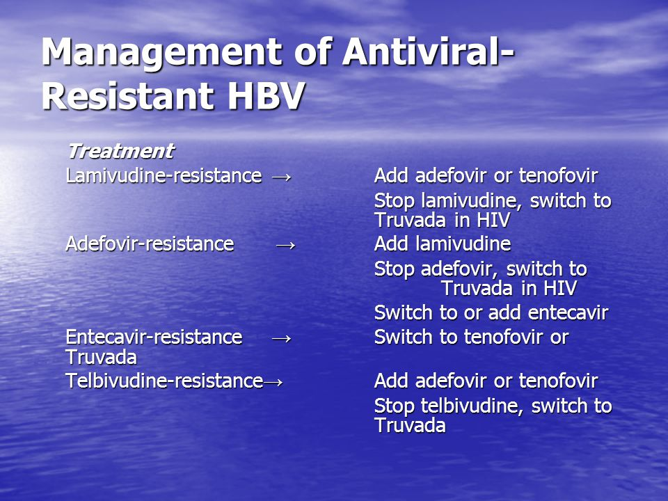Management of Antiviral-Resistant HBV