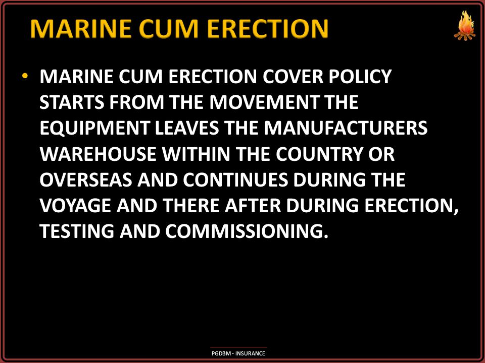 MARINE CUM ERECTION