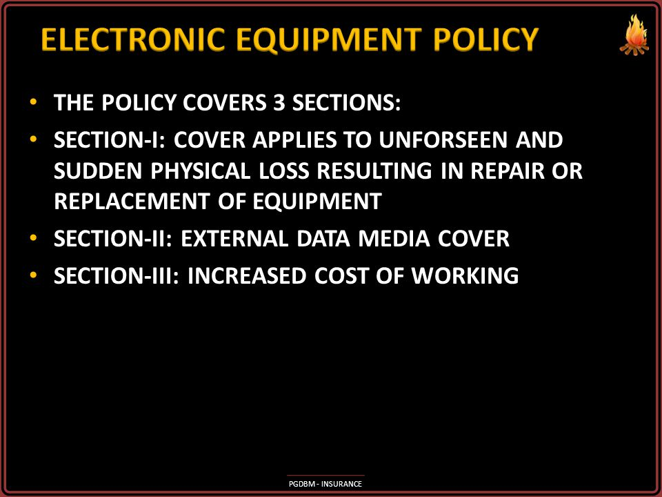 ELECTRONIC EQUIPMENT POLICY