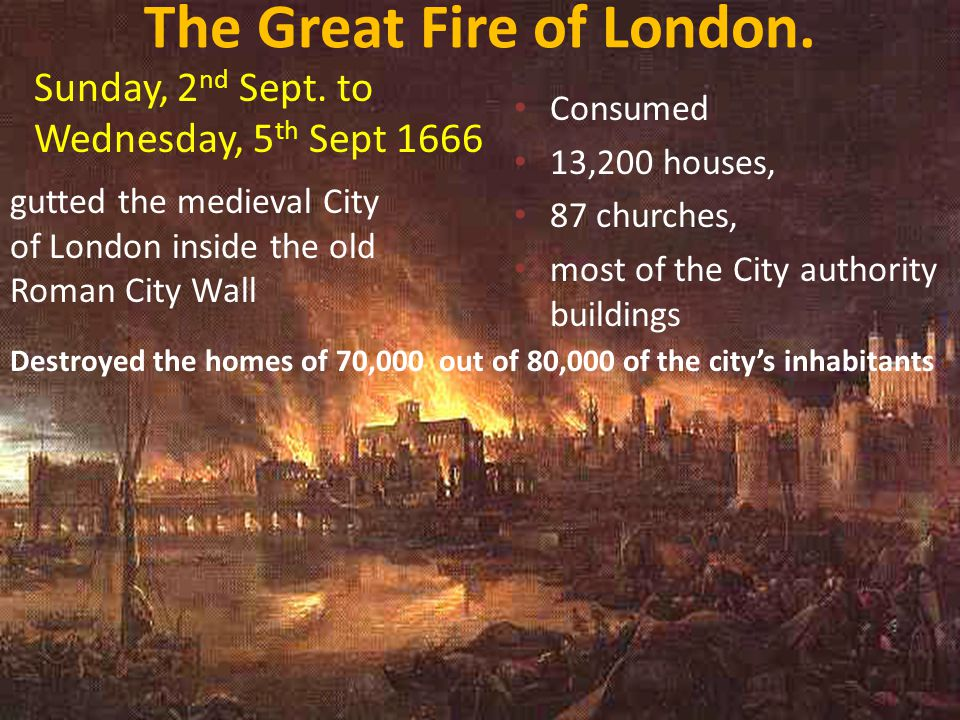 The Great Fire of London.
