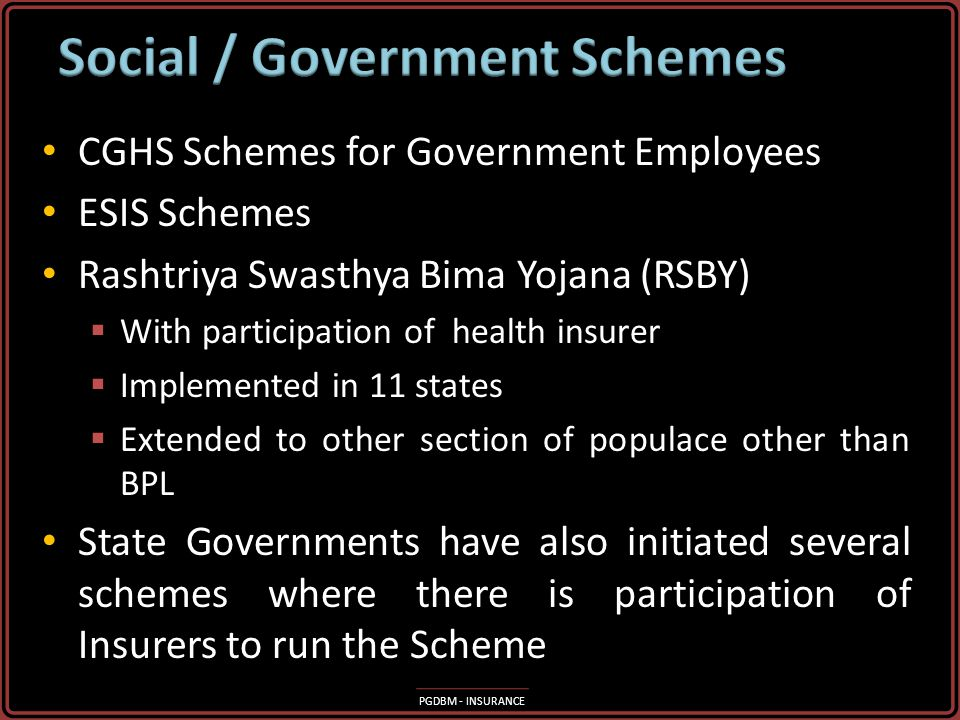 Social / Government Schemes