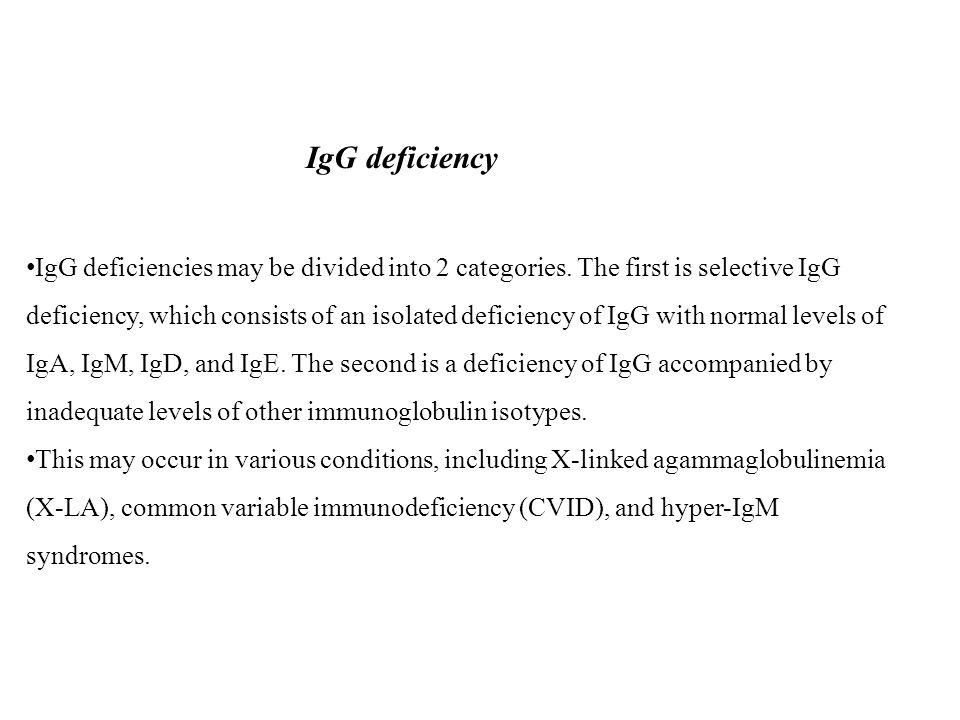 IgG deficiency