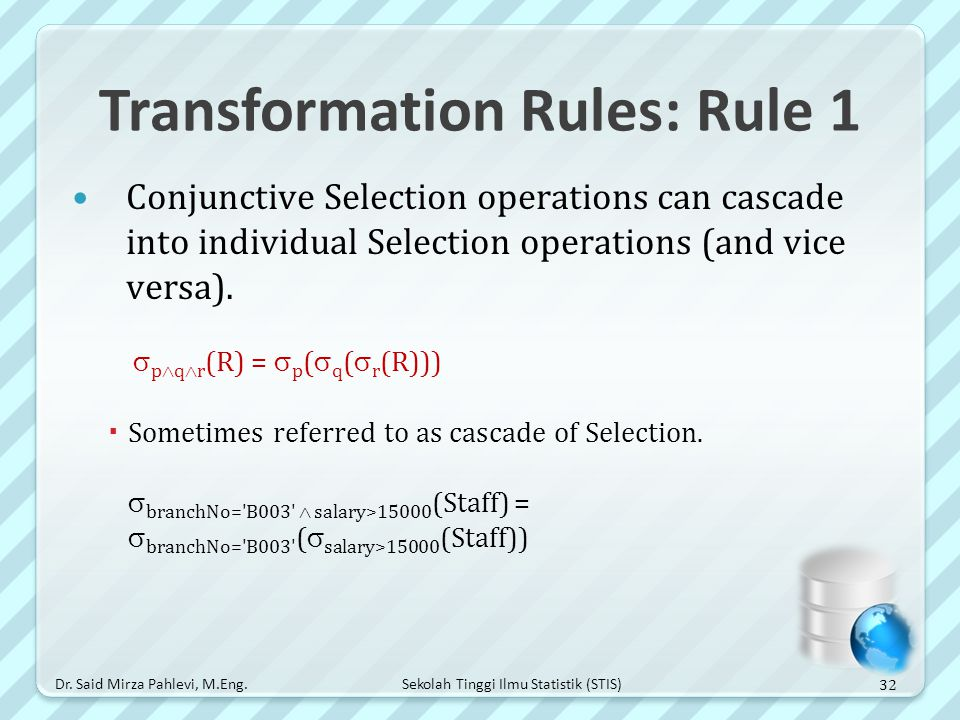 Transformation Rules: Rule 1