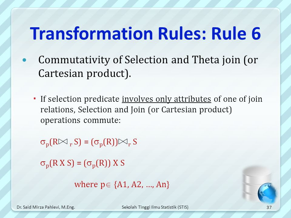 Transformation Rules: Rule 6