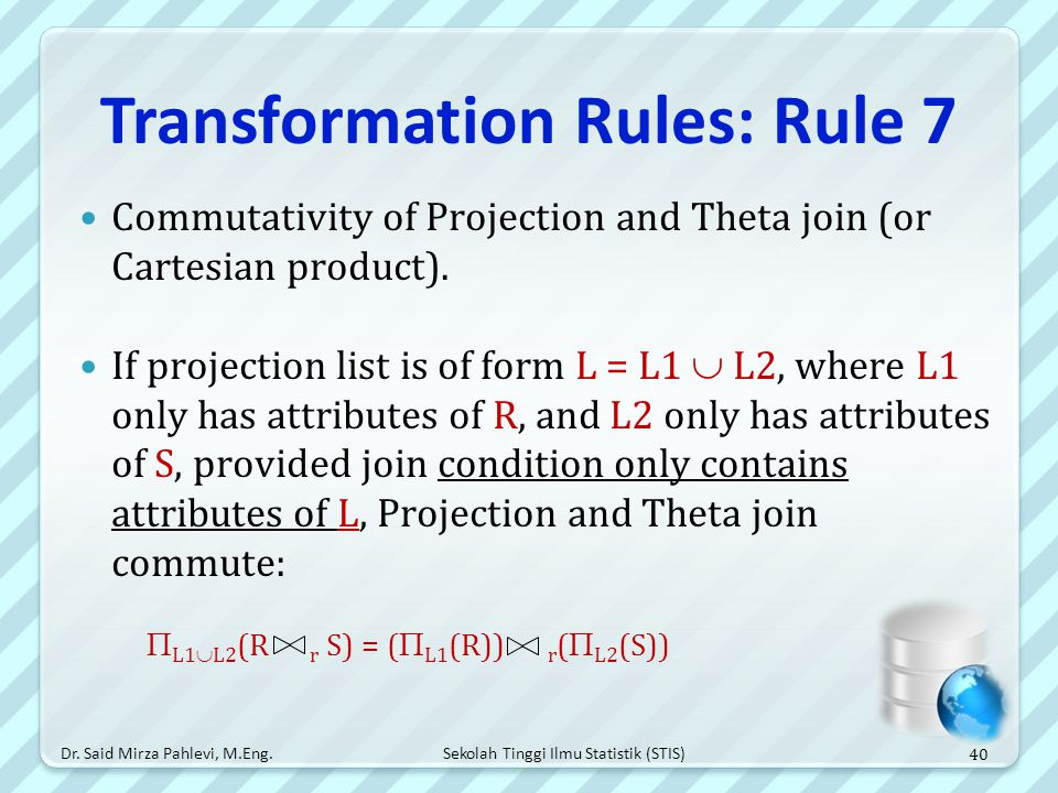Transformation Rules: Rule 7