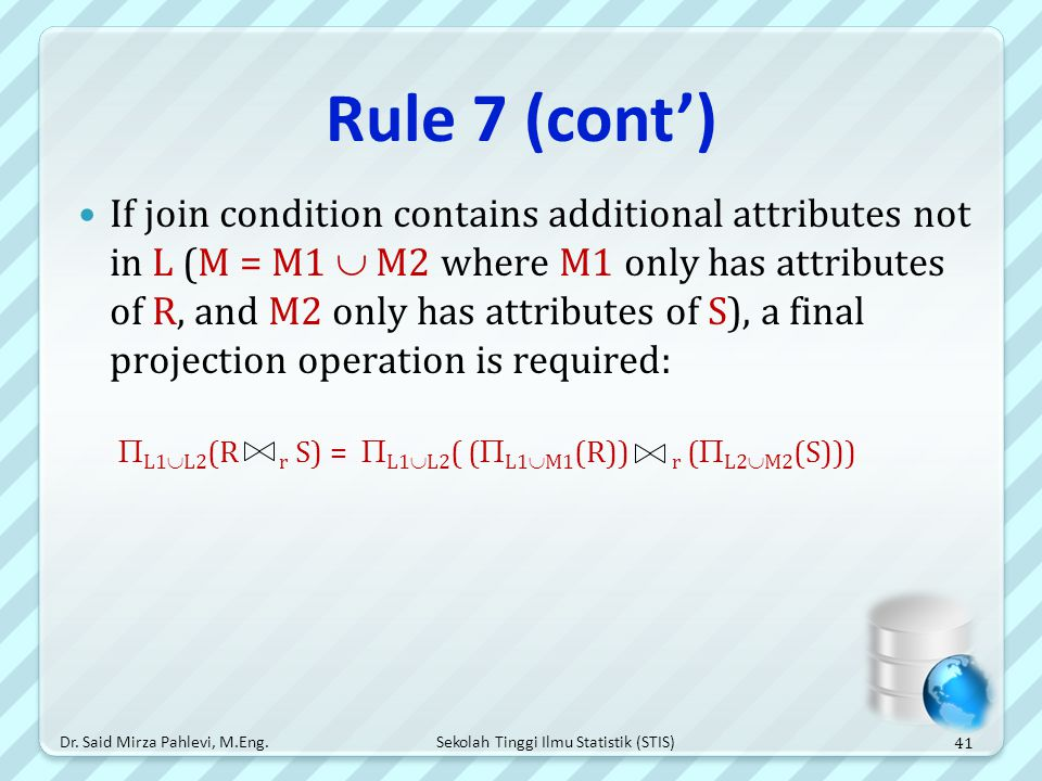 Rule 7 (cont')