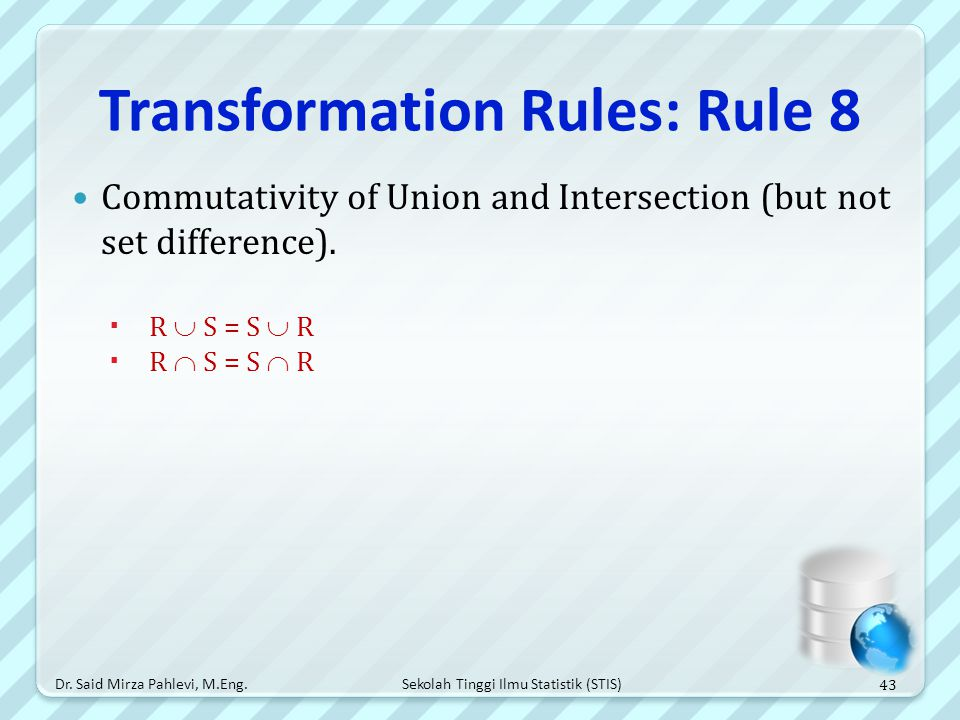 Transformation Rules: Rule 8