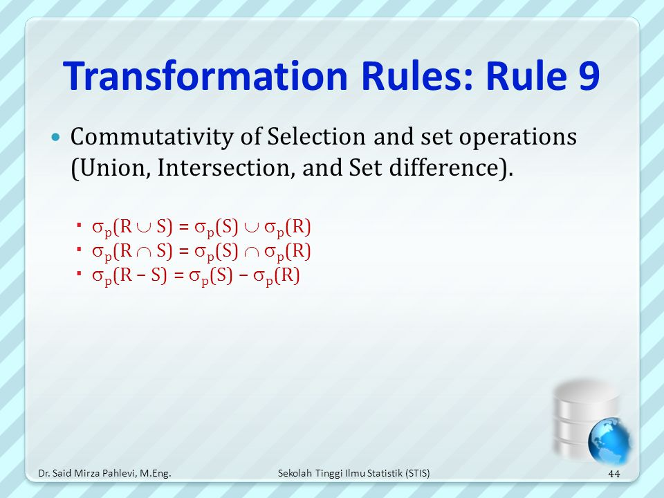 Transformation Rules: Rule 9
