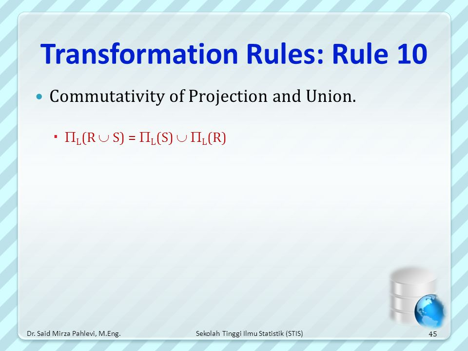 Transformation Rules: Rule 10