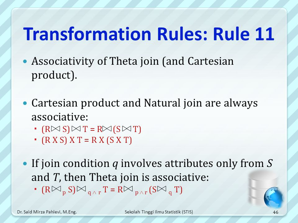 Transformation Rules: Rule 11