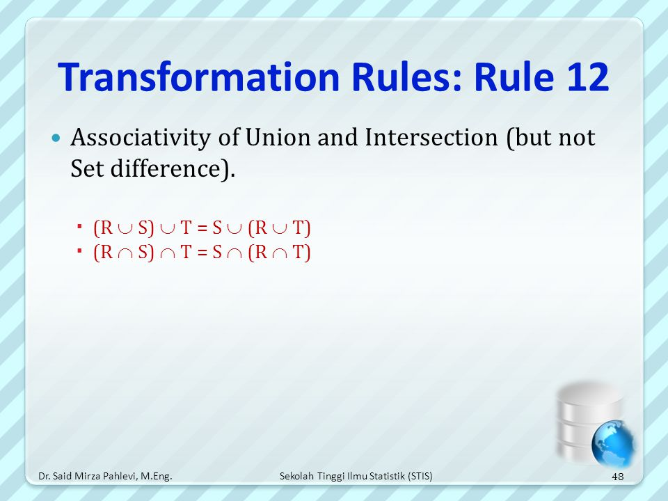 Transformation Rules: Rule 12