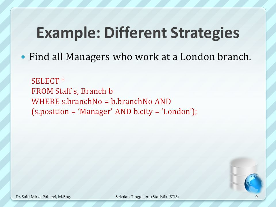 Example: Different Strategies