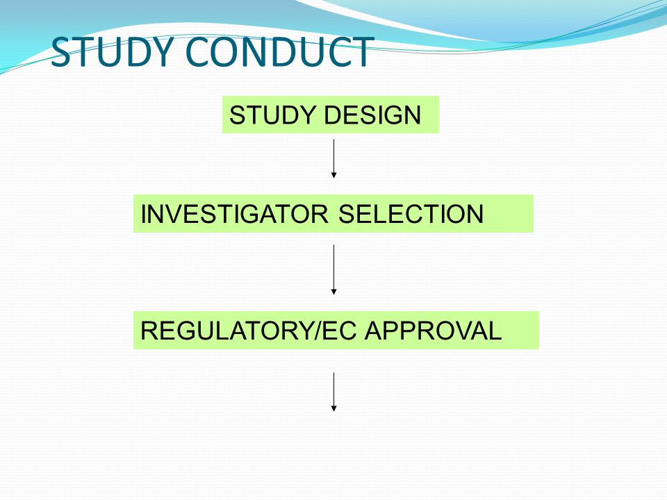 STUDY CONDUCT STUDY DESIGN INVESTIGATOR SELECTION