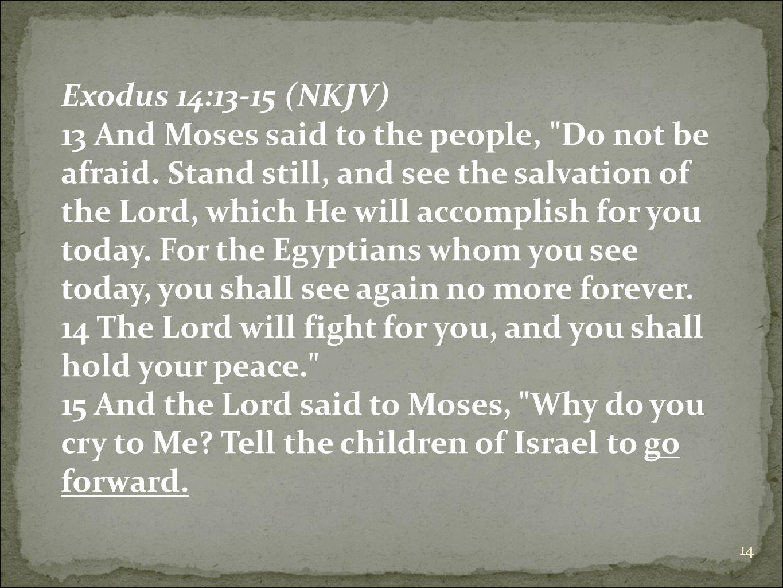 Exodus 14:13-15 (NKJV)