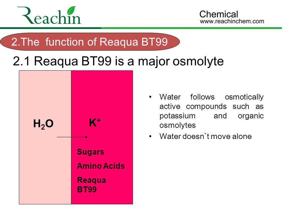 2.The function of Reaqua BT99