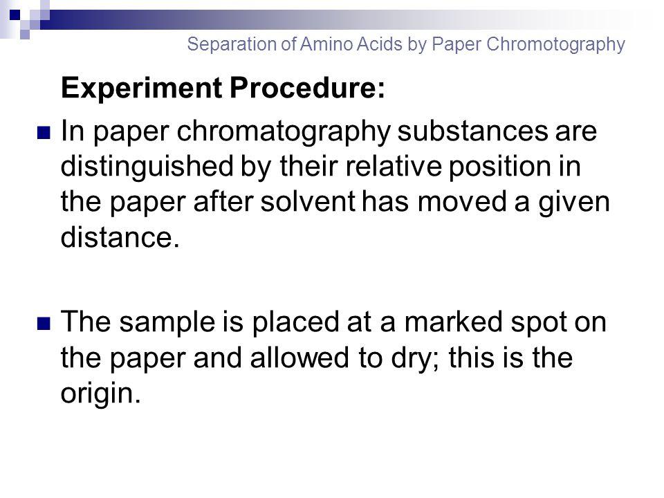 Experiment Procedure: