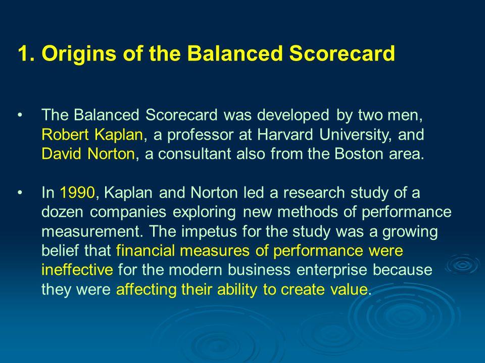 Origins of the Balanced Scorecard