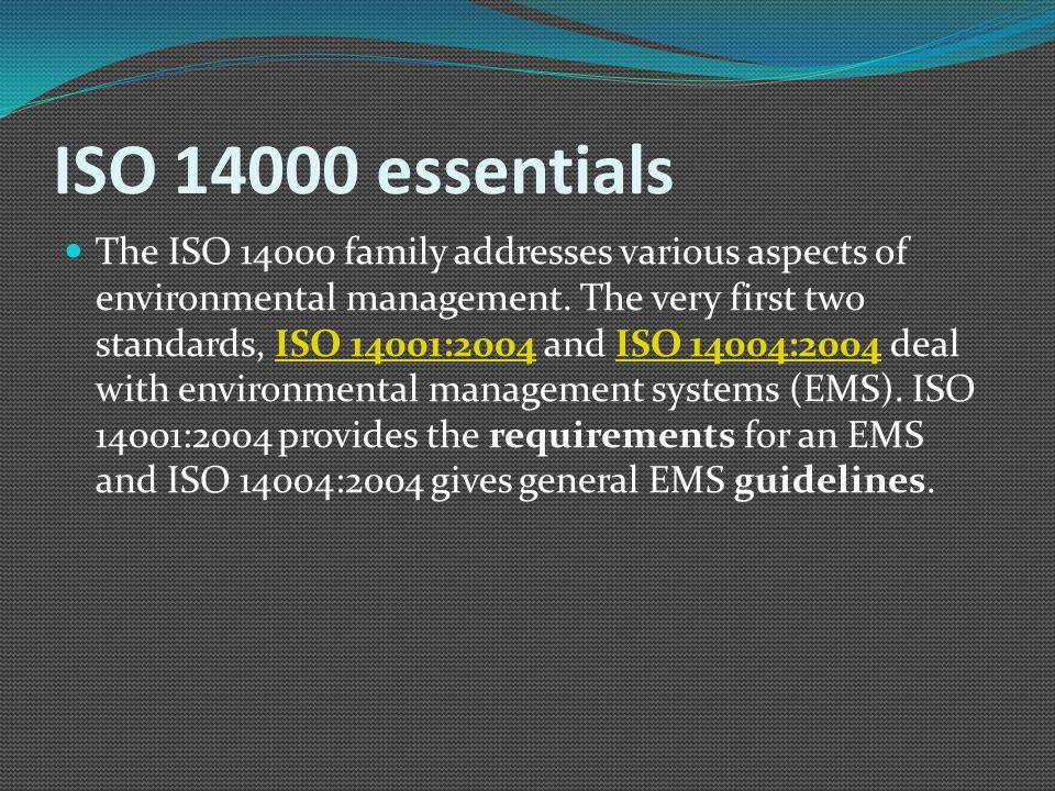 ISO 14000 essentials