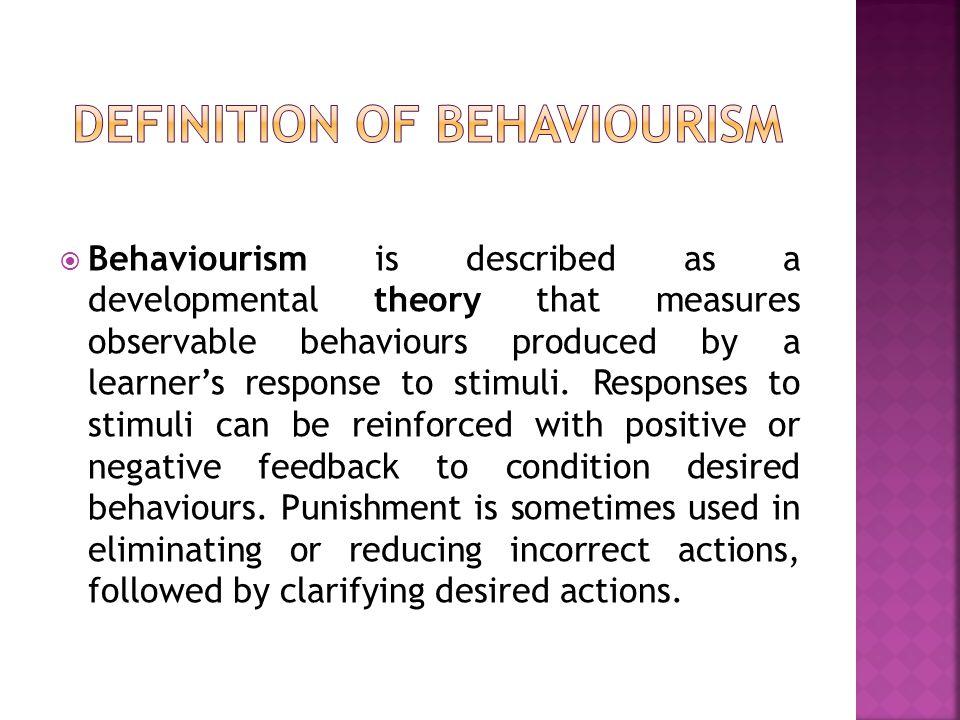 Definition of behaviourism