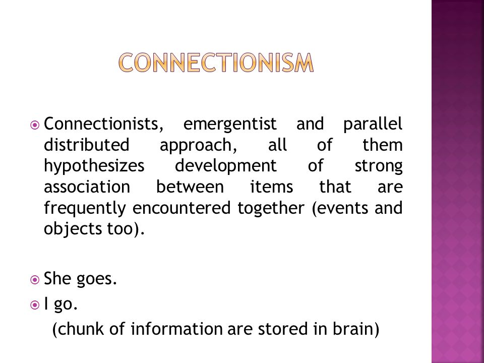 (chunk of information are stored in brain)