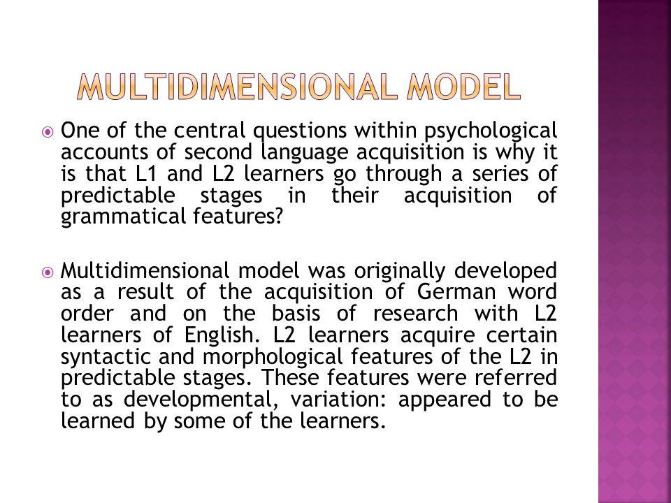 Multidimensional model