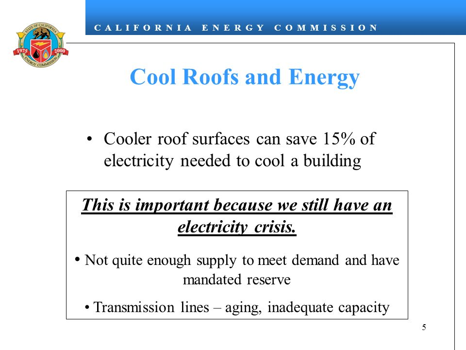 This is important because we still have an electricity crisis.