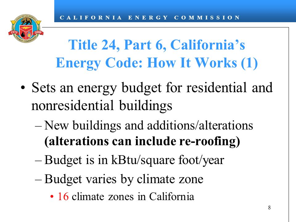 Title 24, Part 6, California's Energy Code: How It Works (1)