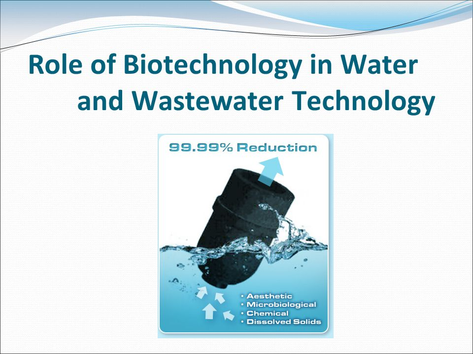 Role of Biotechnology in Water and Wastewater Technology